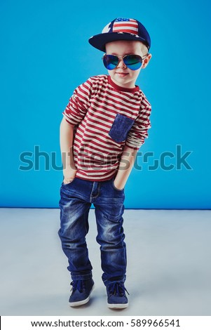 31ffc2104 Cute Little Boy Elegant Clothes Sunglasses Stock Photo (Edit Now ...