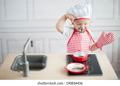 Cute little cook