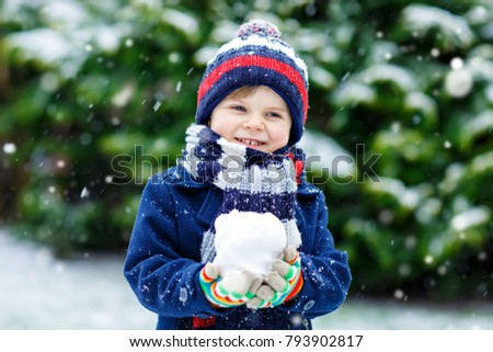 774299d3b Cute Little Funny Child Colorful Winter Stock Photo (Edit Now ...