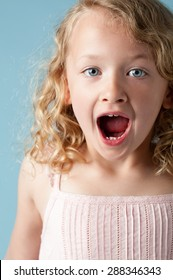 Cute little girl being surprised