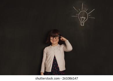 cute little girl has an new idea