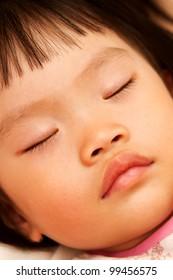 Cute little girl have a slumber sleep