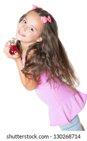 cute little girl and perfume