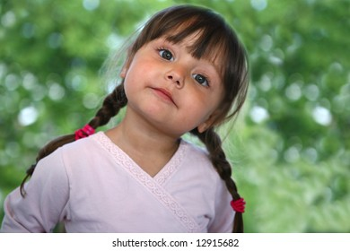 Cute little girl portrait
