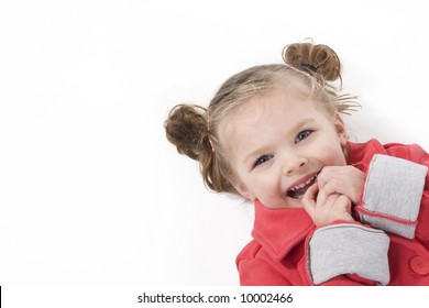 cute little girl in red