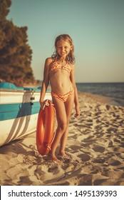Little Cute Girls Bikini Images Stock Photos Vectors Shutterstock