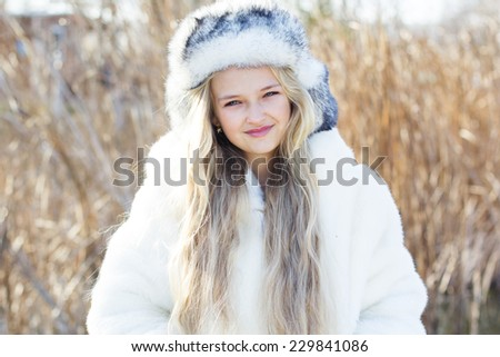 1a31043c353e Cute Little Girl Winter Clothes Outdoors Stock Photo (Edit Now ...