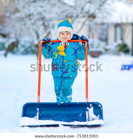 075dc4785 Cute Little Kid Boy Colorful Winter Stock Photo (Edit Now) 753811003 ...