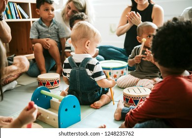 Cute little kids playing together