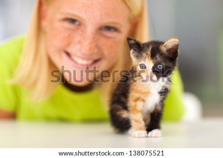 Cute kitty teen girls