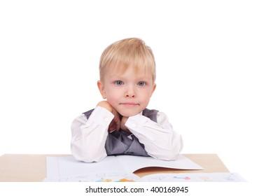 cute little preschool boy closeup
