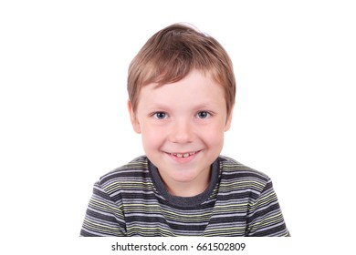 cute little smiling boy closeup