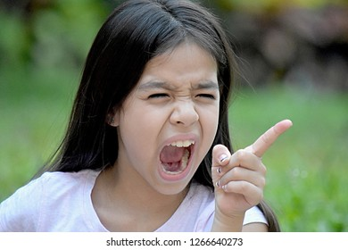 Cute Minority Tween And Anger