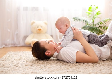 Cute mother and daughter