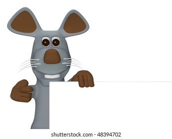 cute mouse with card for text