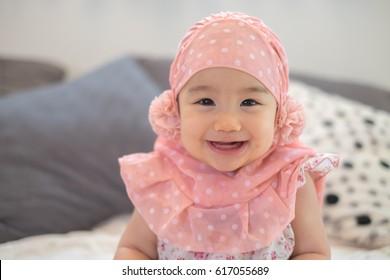 Cute Muslim baby in the Hijab