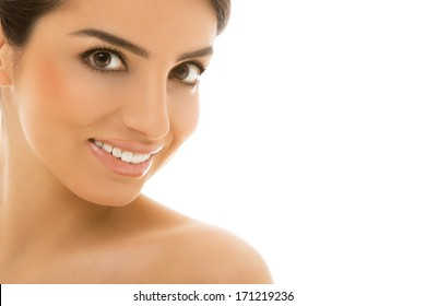 Cute, natural woman with beautiful smile