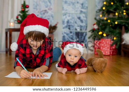 f034712062 Cute Newborn Baby Boy Christmas Hat Stock Photo (Edit Now ...