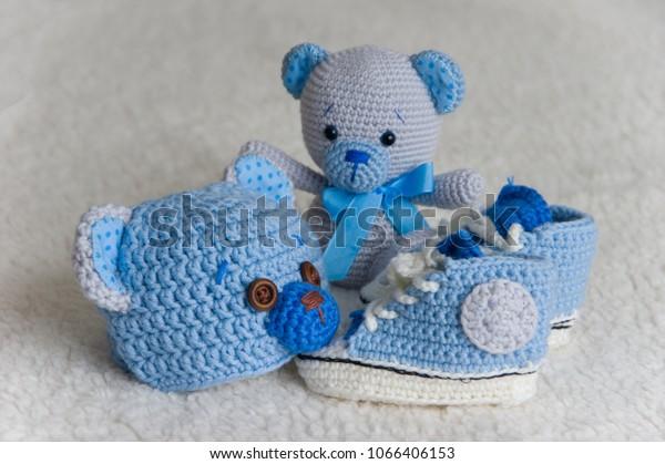 Teddy Bear and Teether- Newborn Gift Set - DucknRabbit   419x600