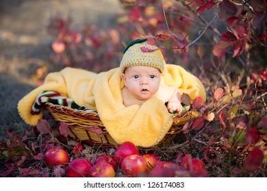 16b4a5d21eb Cute Newborn Baby Blue Eyes Basket Stock Photo (Edit Now) 117539374 ...