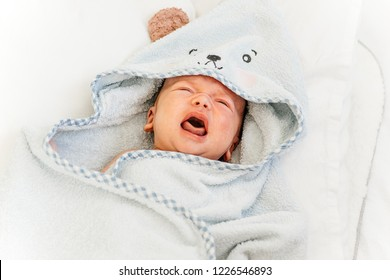 cute newborn baby on the first months of life