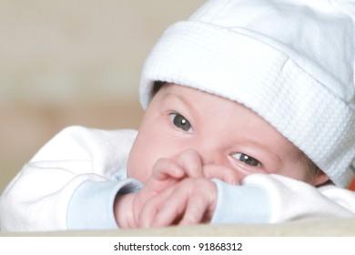 cute newborn baby portrait