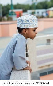 Cute Omani boy wearing dish dasha