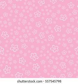 Cute pattern for kids, girls and boys. Creative background is made up of flowers. It can be used to create prints, packaging,invitations, simple designs. Funny wallpaper for textile and fabric.