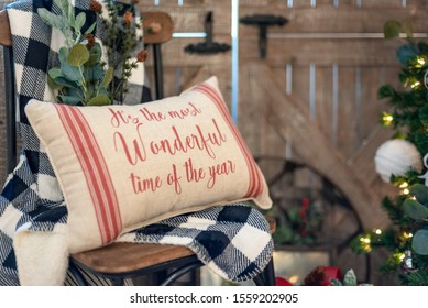 Cute pillow for Christmas - rustic modern farmhouse style Christmas decor for the home