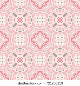 Cute pink Seamless abstract tiled pattern web background