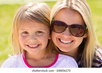 Cute Portrait of a Mother and her daughter