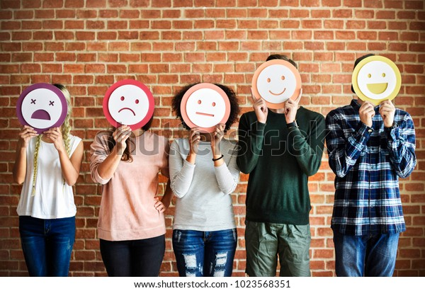 Cute portrayal of a range of different emotions
