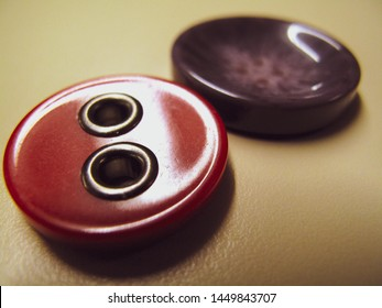 Cute red and purple buttons