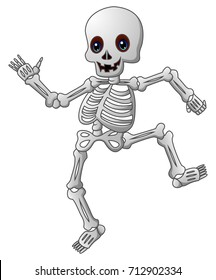 Cute skeleton cartoon
