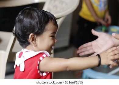 Cute small girl, children, girl