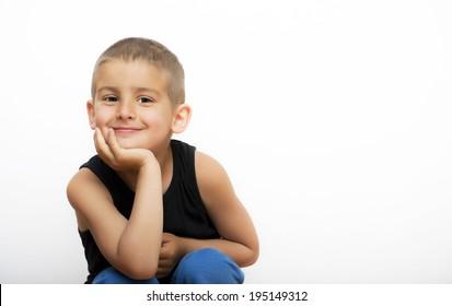 Cute smiling little boy