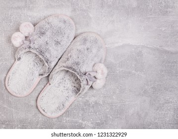 Cute sneakers  on a gray background.