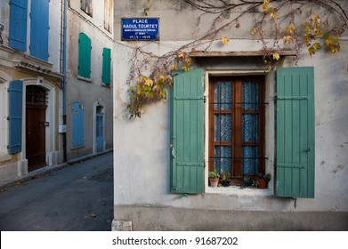 A cute street in southern France in Saint-Remy-de-Provence