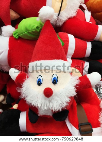 Cute Stuffed Toy Santa Claus Sell Stock Photo Edit Now 750629848