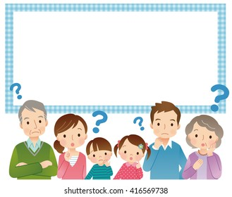 cute style young family and message space
