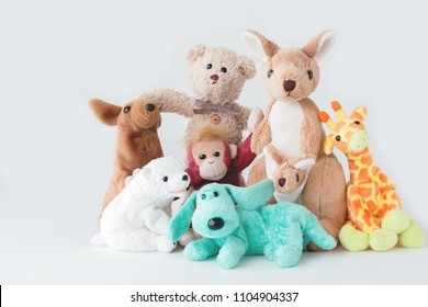 Cute teddy bear and the gang ,Team of the doll