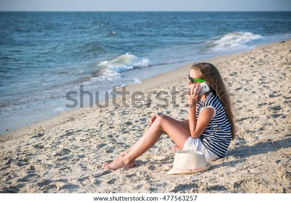 Cute Teenage Girl Talking On Phone Stock Photo Edit Now 477563257