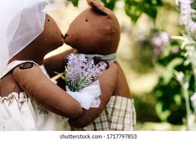 cute tilda teddy bears wedding ceremony