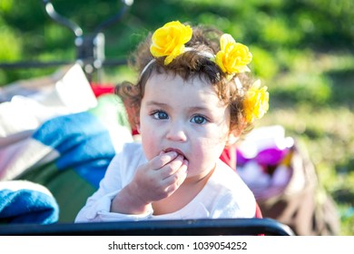 Cute Toddler looking at Camera