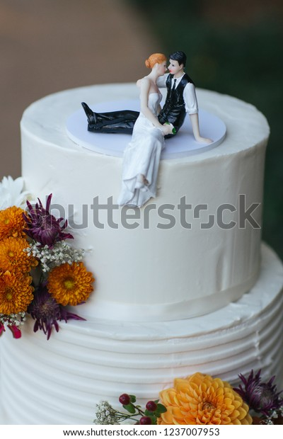 Cutest Wedding Cake Toppers.Cute Wedding Cake Topper Bride Groom Stock Photo Edit Now 1237007953