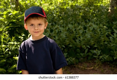Cute, young boy outdoors.