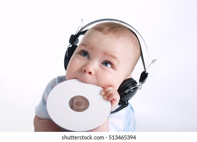 cute young DJ on white