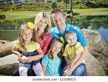 Cute Young Family Portrait