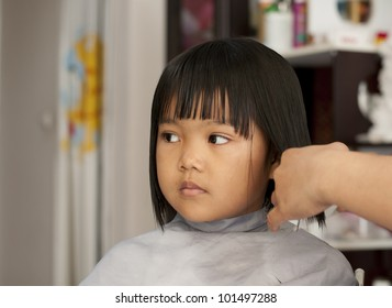 Little Girl Haircut Images Stock Photos Vectors