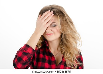 Woman Facepalming Images, Stock Photos & Vectors | Shutterstock